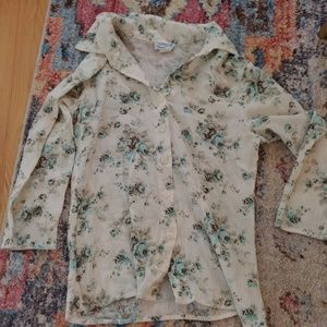 Tops - 3 for $12 Flower button up